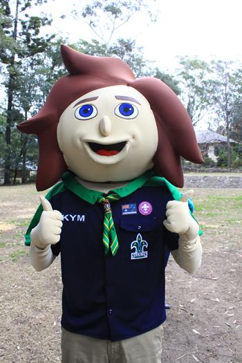 Kym - Scouts NSW Mascot